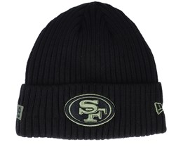 San Francisco 49ers Salute To Service NFL 20 Knit Black Cuff - New Era