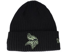 Minnesota Vikings Salute To Service NFL 20 Knit Black Cuff - New Era