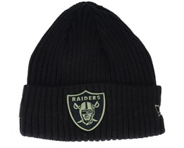 Las Vegas Raiders Salute To Service NFL 20 Knit Black Cuff - New Era