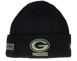 Green Bay Packers Salute To Service NFL 20 Knit Black Cuff - New Era
