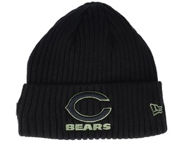 Chicago Bears Salute To Service NFL 20 Knit Black Cuff - New Era