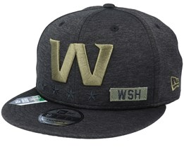 Washington Nationals Salute To Service NFL 20 Heather Black Snapback - New Era