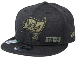 Tampa Bay Buccaneers Salute To Service NFL 20 Heather Black Snapback - New Era