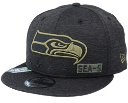 Seattle Seahawks Salute To Service NFL 20 Heather Black Snapback - New Era