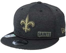 New Orleans Saints Salute To Service NFL 20 Heather Black Snapback - New Era