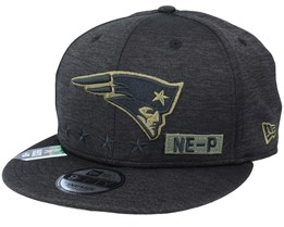 New England Patriots Salute To Service NFL 20 Heather Black Snapback - New Era