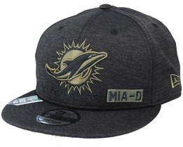 Miami Dolphins Salute To Service NFL 20 Heather Black Snapback - New Era