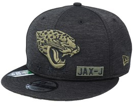 Jacksonville Jaguars Salute To Service NFL 20 Heather Black Snapback - New Era