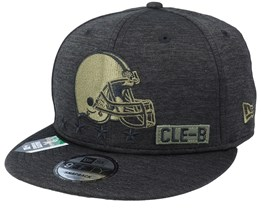 Cleveland Browns Salute To Service NFL 20 Heather Black Snapback - New Era