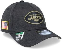 New York Jets Salute To Service 39Thirty NFL 20 Heather Black Flexfit - New Era