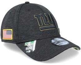 New York Giants Salute To Service 39Thirty NFL 20 Heather Black Flexfit  - New Era