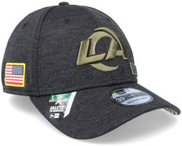 Los Angeles Rams Salute To Service 39Thirty NFL 20 Heather Black Flexfit - New Era