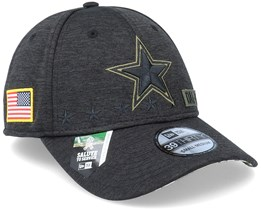 Dallas Cowboys Salute To Service 39Thirty NFL 20 Heather Black Flexfit - New Era