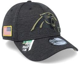 Carolina Panthers Salute To Service 39Thirty NFL 20 Heather Black Flexfit - New Era