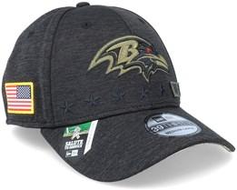 Baltimore Ravens Salute To Service 39Thirty NFL 20 Heather Black Flexfit - New Era