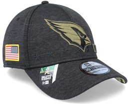 Arizona Cardinals Salute To Service 39Thirty NFL 20 Heather Black Flexfit - New Era