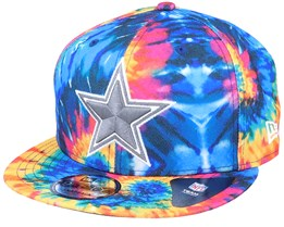 Dallas Cowboys Crucial Catch 9Fifty Tie-Dye Multicolor Snapback - New Era