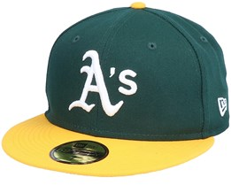 Oakland Athletics Authentic On-Field 59Fifty Green/Yellow Fitted - New Era