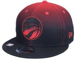 Toronto Raptors 9FIFTY NBA20 Back Half Black/Red Snapback - New Era