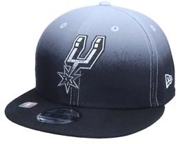 San Antonio Spurs 9FIFTY NBA20 Back Half Black/Grey Snapback - New Era