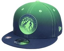 Minnesota Timberwolves 9FIFTY NBA20 Back Half Navy/Green Snapback - New Era