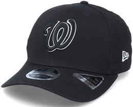 Hatstore Exclusive x Washington Nationals Essential 9Fifty Stretch Black Adjustable - New Era