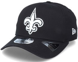 Hatstore Exclusive x New Orleans Saints Essential 9Fifty Stretch Black Adjustable - New Era