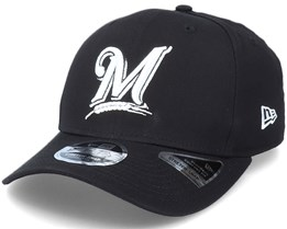 Hatstore Exclusive x Milwaukee Brewers Essential 9Fifty Stretch Snap Mib Black Adjustable - New Era