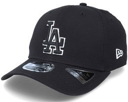 Hatstore Exclusive x Los Angeles Dodgers Essential 9Fifty Stretch Black Adjustable - New Era