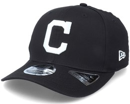 Hatstore Exclusive x Cleveland Indians Essential 9Fifty Stretch Black Adjustable - New Era
