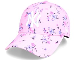 New York Yankees Womens Floral 9Forty Pink Adjustable - New Era
