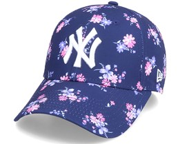 New York Yankees Womens Floral 9Forty Navy Adjustable - New Era