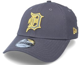 Detroit Tigers Metallic Logo Gray/Gold 9Forty Adjustable - New Era