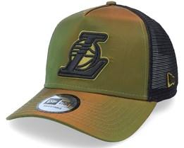 LA Lakers Hypertone Green/Black Trucker - New Era