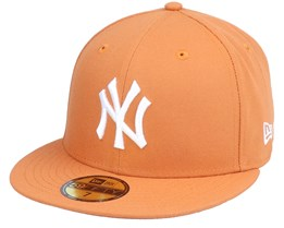 New York Yankees League Essential 59Fifty Toffee/White Fitted - New Era