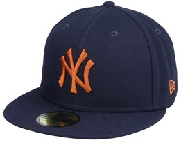 New York Yankees League Essential 59Fifty Navy/Brown Fitted - New Era