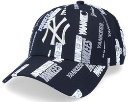 New York Yankees All Over Script Print 9Forty Navy Adjustable - New Era