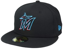 Miami DolphinsAuthentic On-Field59Fifty Black Fitted - New Era