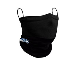 Seattle Seahawks 1-Pack Black Neck Gaiter - New Era
