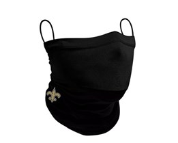 New Orleans Saints 1-Pack Black Neck Gaiter - New Era