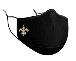 New Orleans Saints 1-Pack Black Face Mask - New Era