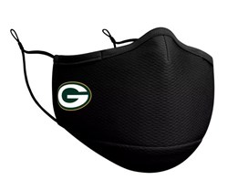 Green Bay Packers 1-Pack Black Face Mask - New Era