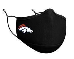 Denver Broncos 1-Pack Black Face Mask - New Era