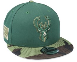 Milwaukee Bucks 9Fifty All-Star Game Camo Green Snapback - New Era