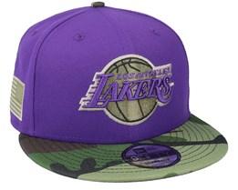 LA Lakers 9Fifty All-Star Game Camo Purple Snapback - New Era
