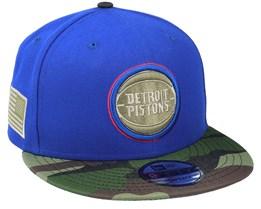 Detroit Pistons 9Fifty All-Star Game Camo Blue Snapback - New Era