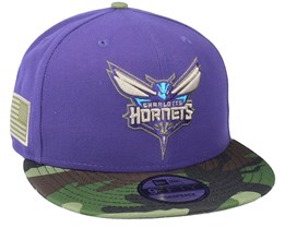 Charlotte Hornets 9Fifty All-Star Game Camo Purple Snapback - New Era