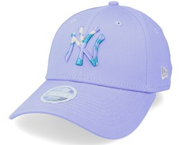 New York Yankees Womens Camo Infill 9FORTY Lavender/Camo Adjustable - New Era