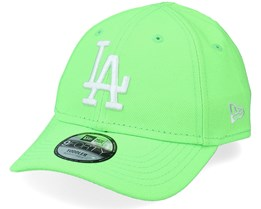 Kids Los Angeles Dodgers Toddler Neon Pack 9FORTY Neon Green/White Adjustable - New Era