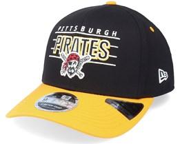 Pittsburgh Pirates Team Wordmark 9FIFTY Black/Yellow Adjustable - New Era